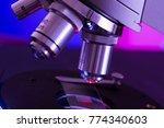 closeup of microscope lenses...   Shutterstock . vector #774340603