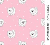 seamless pattern with cute... | Shutterstock .eps vector #774343687