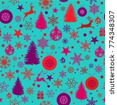 christmas background  seamless...   Shutterstock .eps vector #774348307