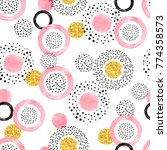 seamless pattern with pink ... | Shutterstock .eps vector #774358573