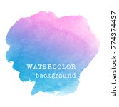 abstract colorful watercolor... | Shutterstock .eps vector #774374437