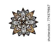 mandala flower decoration ... | Shutterstock .eps vector #774379867