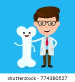cute funny smiling doctor and... | Shutterstock .eps vector #774380527