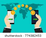 ethereum coins exchange and... | Shutterstock .eps vector #774382453