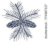 hand drawn sketch design vector ... | Shutterstock .eps vector #774387127