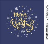 i wish you merry christmas....   Shutterstock .eps vector #774389647