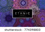 ethnic banners template with... | Shutterstock .eps vector #774398803
