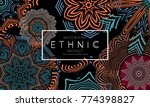 ethnic banners template with... | Shutterstock .eps vector #774398827