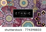 ethnic banners template with... | Shutterstock .eps vector #774398833