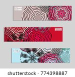 ethnic banners template with... | Shutterstock .eps vector #774398887