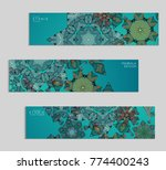 ethnic banners template with... | Shutterstock .eps vector #774400243