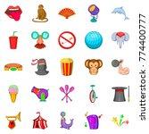 circus icons set. cartoon set... | Shutterstock .eps vector #774400777