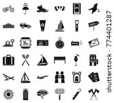 journey icons set. simple style ... | Shutterstock .eps vector #774401287