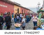 antigua  guatemala   march 25 ... | Shutterstock . vector #774402997