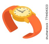 wrist watch icon. isometric... | Shutterstock .eps vector #774404323