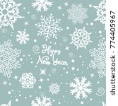 abstract seamless snowflakes... | Shutterstock .eps vector #774405967