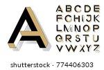 impossible shape font. memphis... | Shutterstock .eps vector #774406303