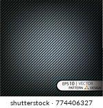 vector pattern seamless carbon... | Shutterstock .eps vector #774406327