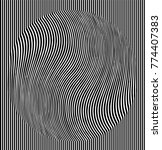 optical illusion effect.... | Shutterstock .eps vector #774407383