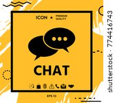 chat button icon   Shutterstock .eps vector #774416743