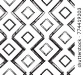squares and zigzag paint brush... | Shutterstock .eps vector #774419203