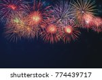 beautiful colorful fireworks... | Shutterstock . vector #774439717
