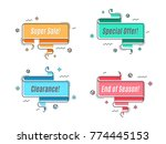 flat linear promotion ribbon... | Shutterstock .eps vector #774445153