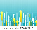 financial arrow graph. vector... | Shutterstock .eps vector #774449713