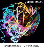 moving colorful lines of...   Shutterstock .eps vector #774456007
