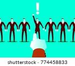 choosing among the many... | Shutterstock .eps vector #774458833