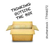 thinking outside the box | Shutterstock . vector #77446072