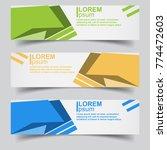 abstract banner design... | Shutterstock .eps vector #774472603