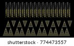 abstract beautiful applique... | Shutterstock .eps vector #774473557