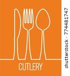 fork spoon knife cutlery symbol ... | Shutterstock .eps vector #774481747