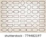 shape of vintage frame with...   Shutterstock .eps vector #774482197