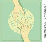 helping each other vector... | Shutterstock .eps vector #774483007
