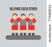 helping each other vector... | Shutterstock .eps vector #774483013