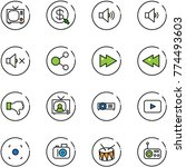 line vector icon set   tv...   Shutterstock .eps vector #774493603