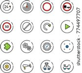 line vector icon set   24 hours ... | Shutterstock .eps vector #774497707