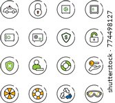 line vector icon set   safety... | Shutterstock .eps vector #774498127