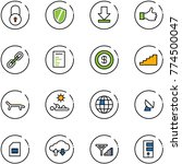 line vector icon set   lock... | Shutterstock .eps vector #774500047