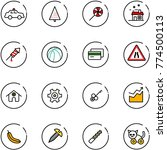 line vector icon set   safety... | Shutterstock .eps vector #774500113