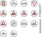 line vector icon set   parking... | Shutterstock .eps vector #774501277