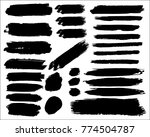 collection of hand drawn grunge ... | Shutterstock .eps vector #774504787