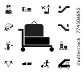 trolley luggage icon. set of... | Shutterstock .eps vector #774506893