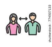 interpersonal relationships icon | Shutterstock .eps vector #774507133