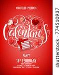 flyer for happy valentine's day ... | Shutterstock .eps vector #774510937