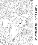 adult coloring book page a... | Shutterstock .eps vector #774511843