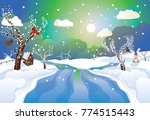 peaceful countryside landscape... | Shutterstock .eps vector #774515443