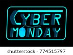 cyber monday sale concept | Shutterstock .eps vector #774515797